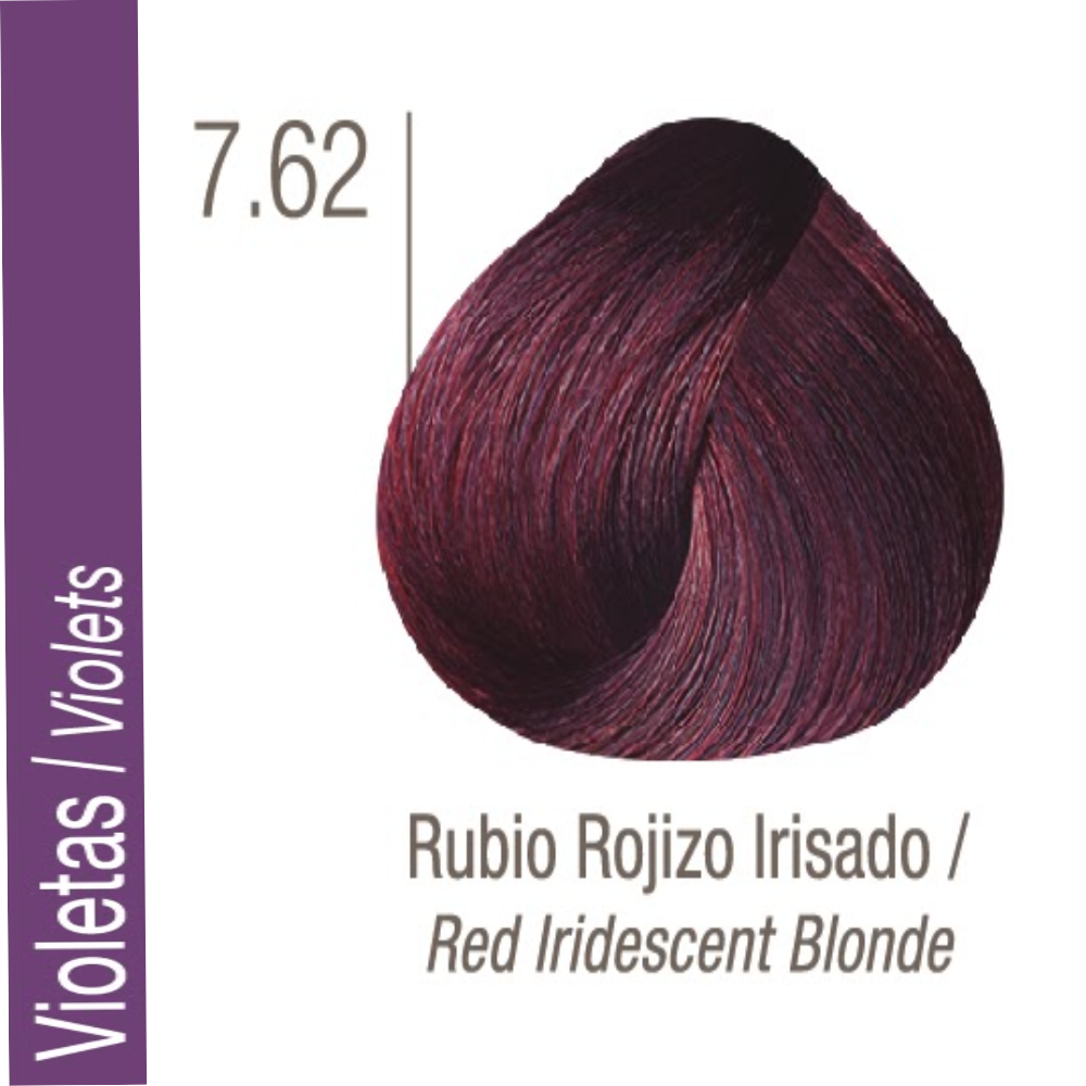 ISSUE TINTURA PROFESSIONAL COLOR Nº 7.62 Violetas Rubio Rojizo Irisado 70 GR