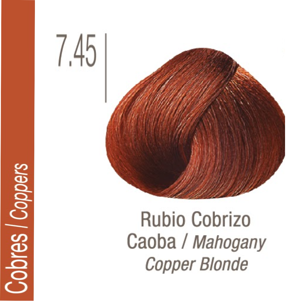 ISSUE TINTURA PROFESSIONAL COLOR Nº 7.45 Cobres Rubio Cobrizo Caoba 70 GR