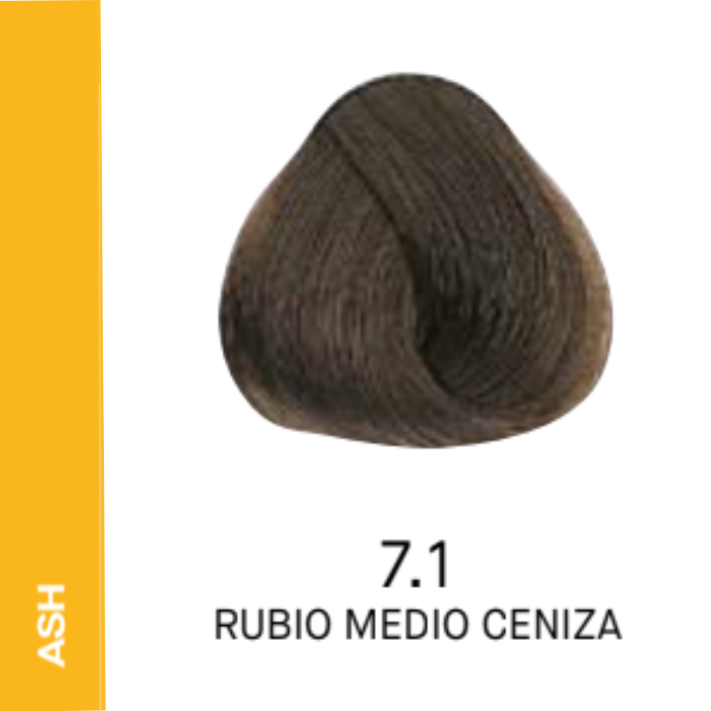 YELLOW COLOR 7.1 RUBIO MEDIO CENIZA 60ML