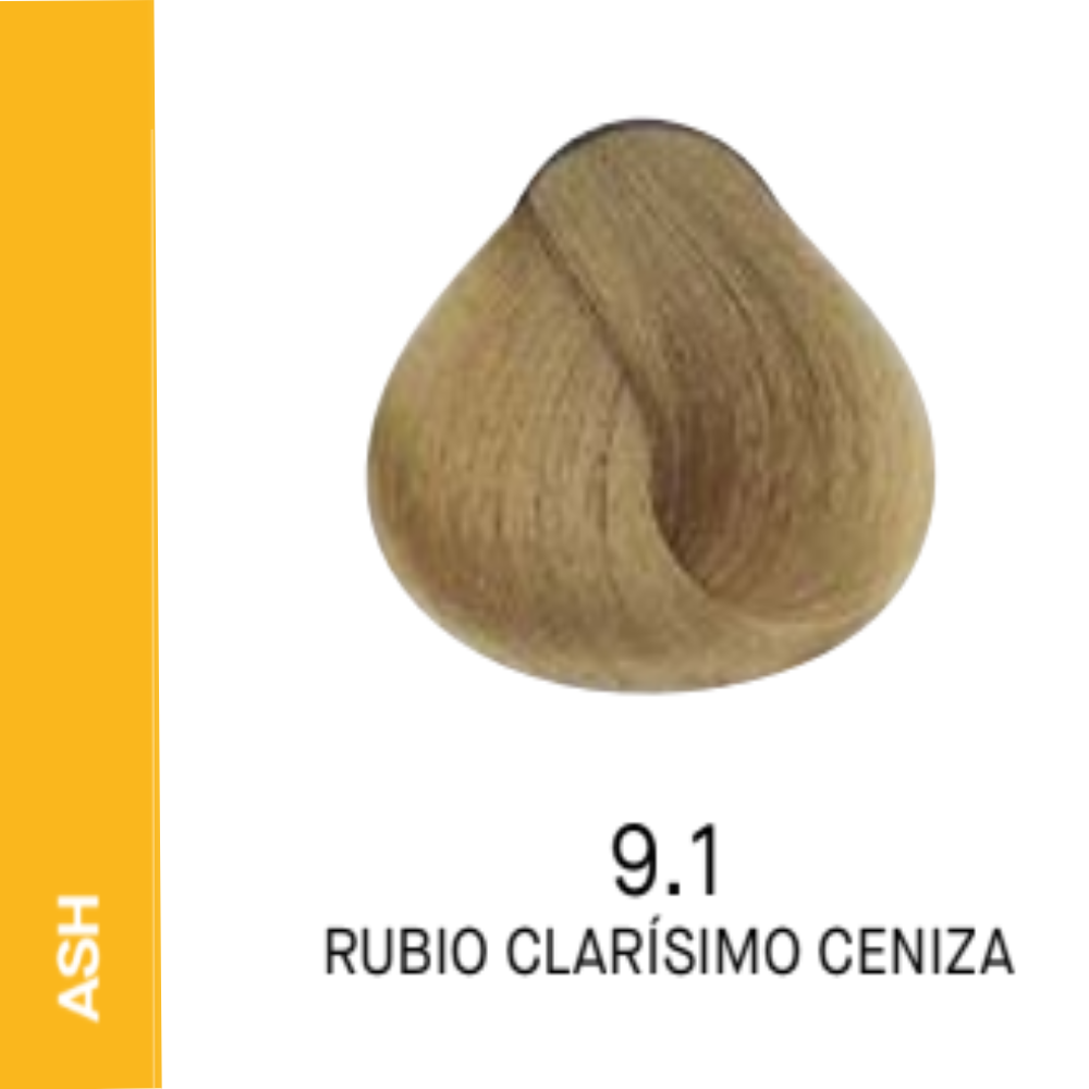 YELLOW COLOR 9.1 RUBIO CLARISIMO CENIZA 60ml