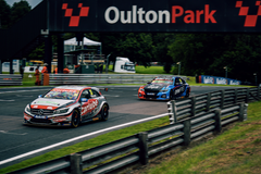 Adam Morgan leading at Oulton Park