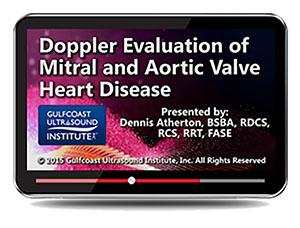 Gulfcoast Doppler Evaluation of Mitral and Aortic Valve Heart Disease (Videos+PDFs) | Medical Video Courses.