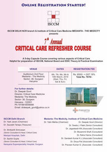 ISCCM 7th Annual Critical Care Refresher Course 2019   Medical Video Courses.