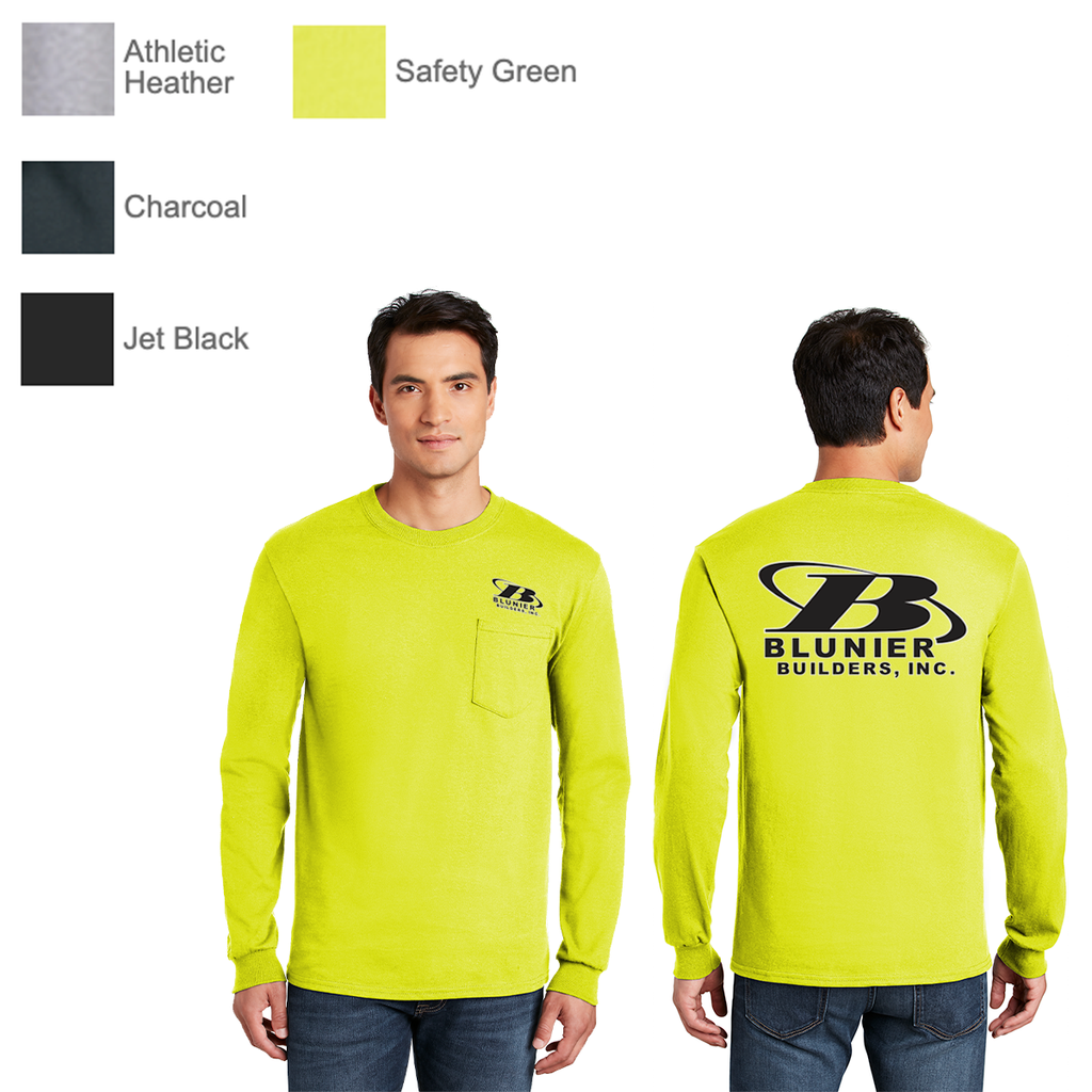 BB - Gildan® - Ultra Cotton® 100% Cotton Long Sleeve T-Shirt with Pocket