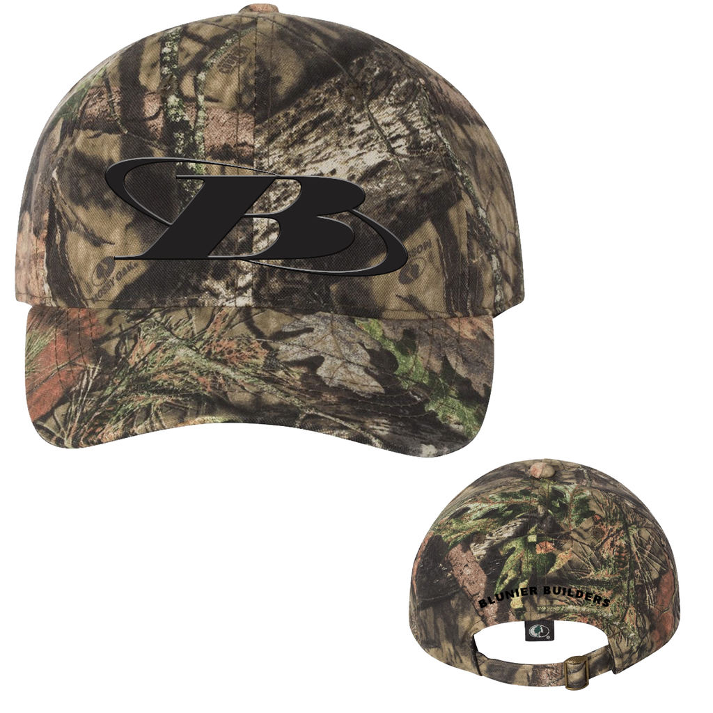 BB - Outdoor Cap - Garment-Washed Camo Cap (Mossy Oak Break Up)