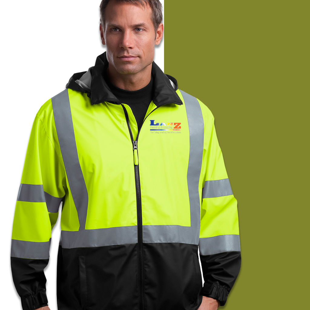 LANZ - Corner Stone ANSI 107 Class 3 Safety Windbreaker Jacket