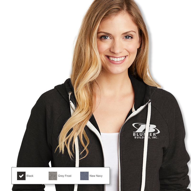 BB - District Women's Tri French Terry Full Zip Hoodie