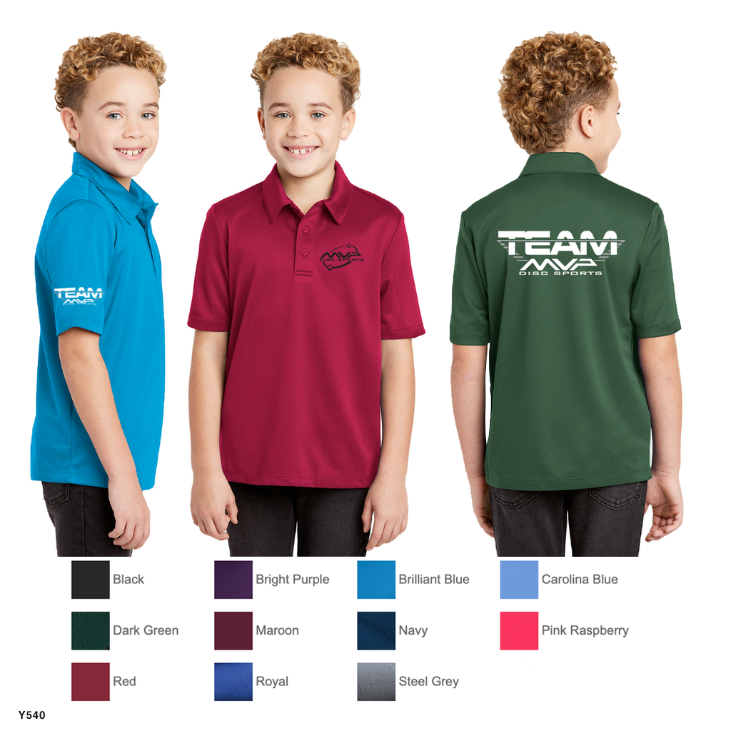 MVP - YOUTH - Port Authority® Youth Silk Touch™ Performance Polo