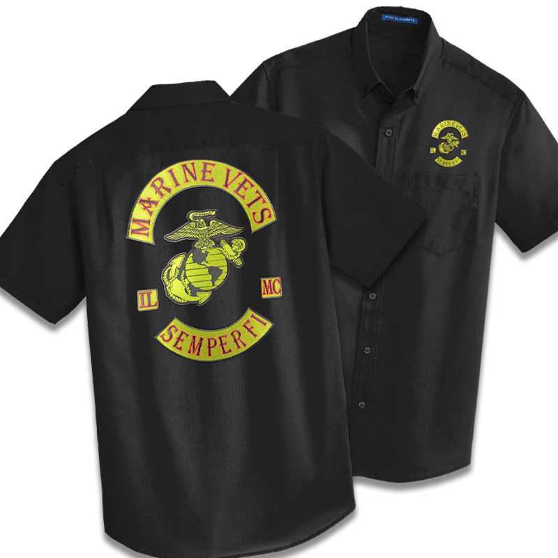 Marine Vets MC - Dress Cut (short or long sleeve)
