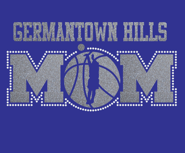 GTH Basketball MOM Glitter/Rhinestone design