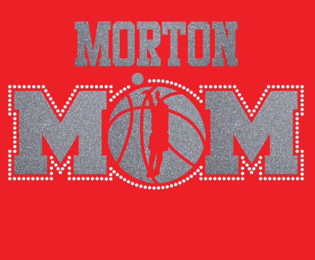 Morton Basketball MOM Glitter/Rhinestone design