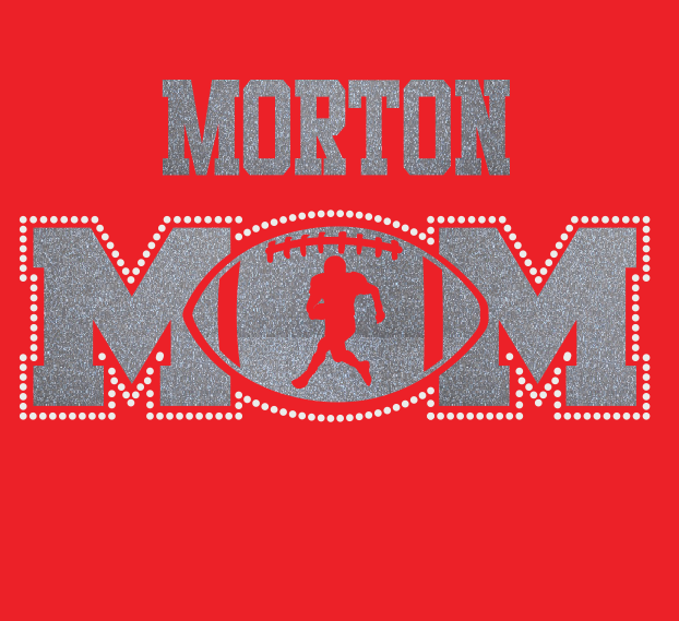 Morton Football MOM Glitter/Rhinestone Design