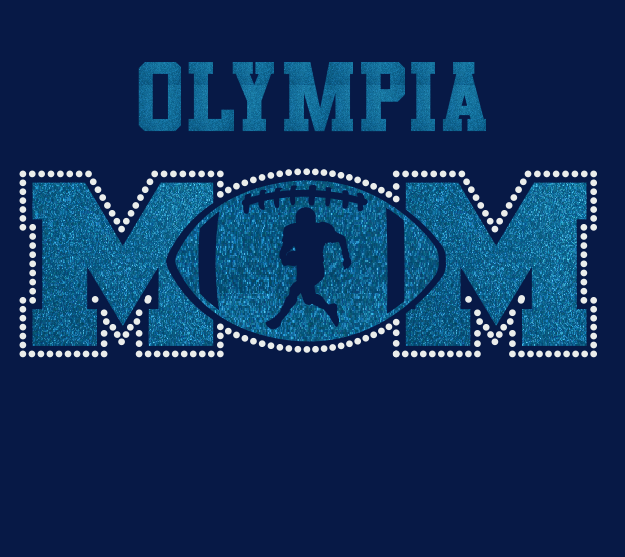 Olympia Football MOM Glitter/Rhinestone Design