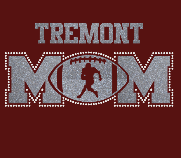 Tremont Football MOM Glitter/Rhinstone