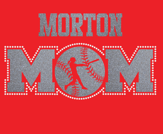 Morton Softball MOM Glitter/Rhinestone design