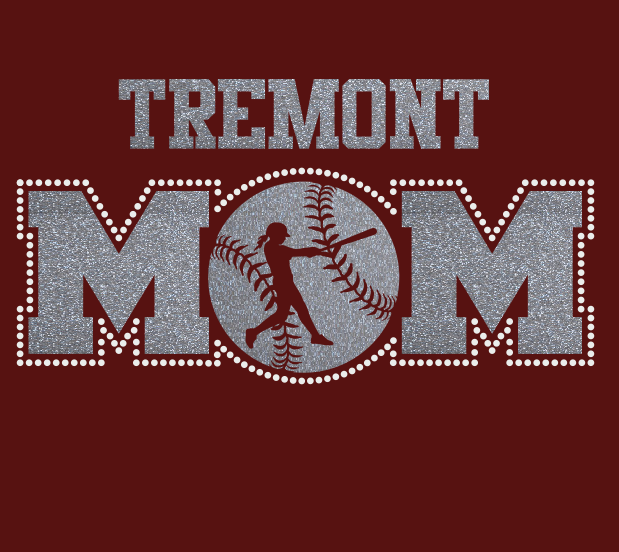 Tremont Softball MOM Glitter/Rhinstone