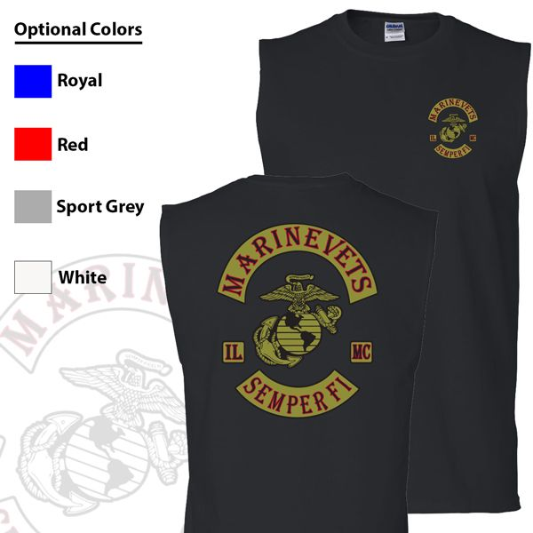 Marine Vets MC Sleeveless Muscle Tank