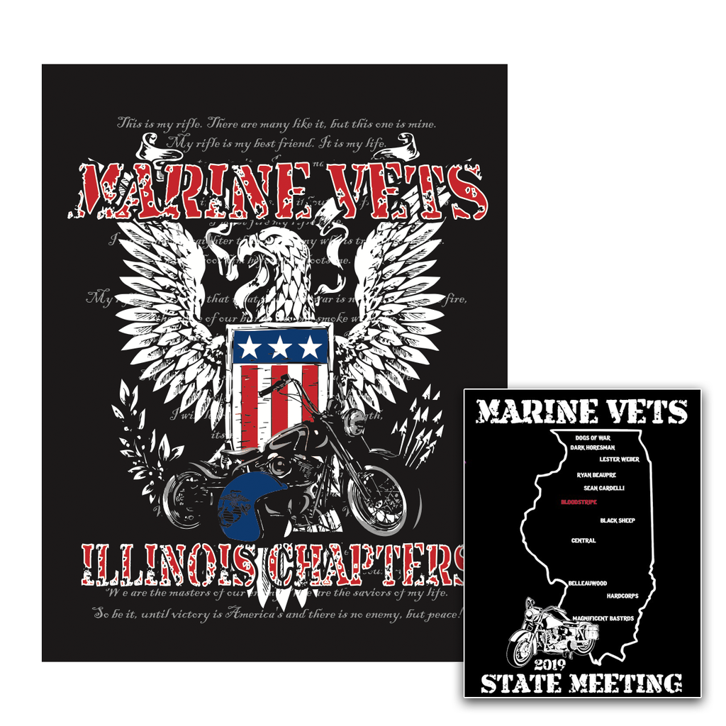 Marine Vets MC - 2019 State Chapter Tees (SPECIAL BUY)