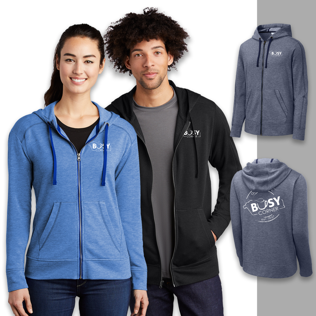 Busy Corner - Sport-Tek Tri-Blend Wicking Fleece Hoodie