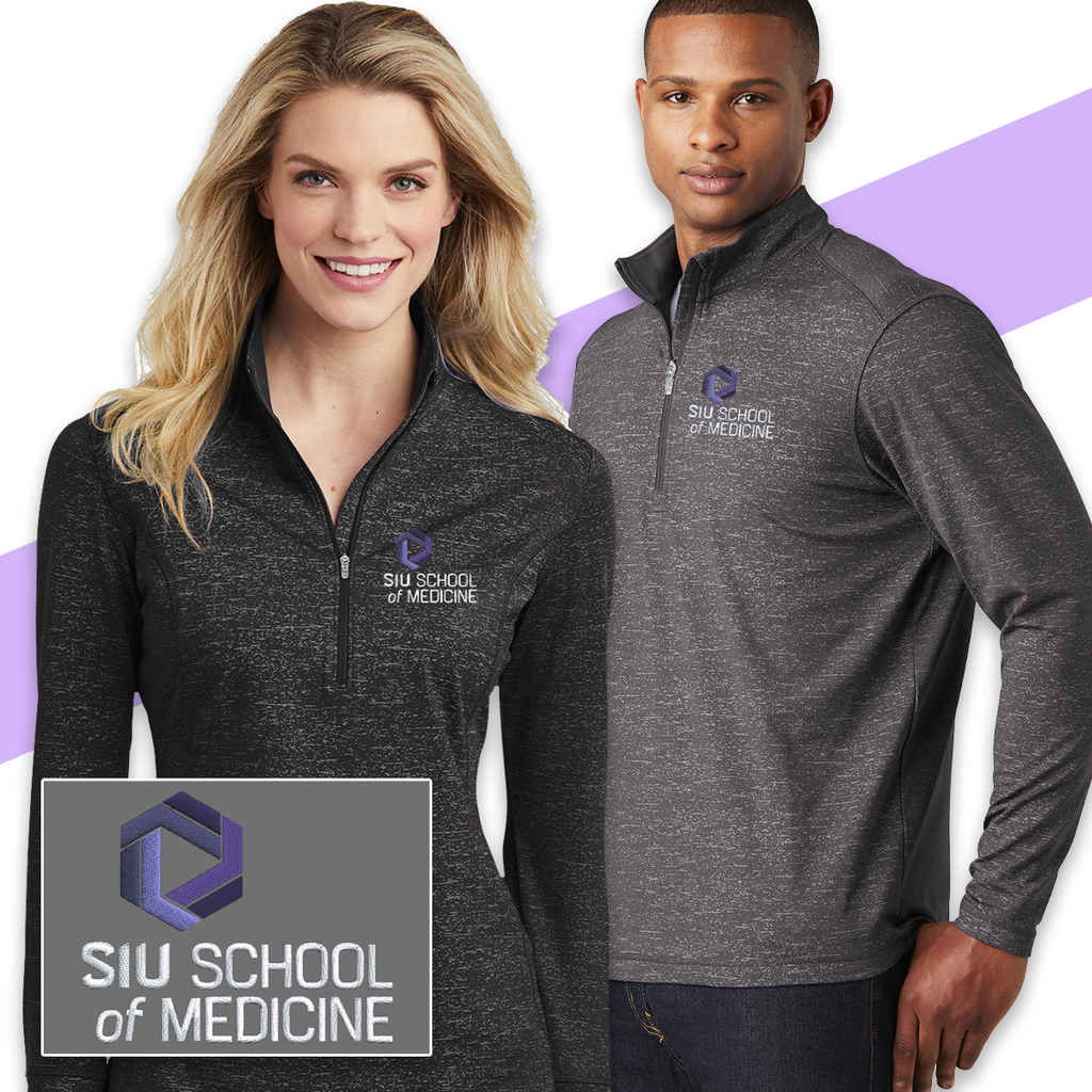 SIU - Sport-Tek Stretch Reflective Heather 1/2 Zip Pullover