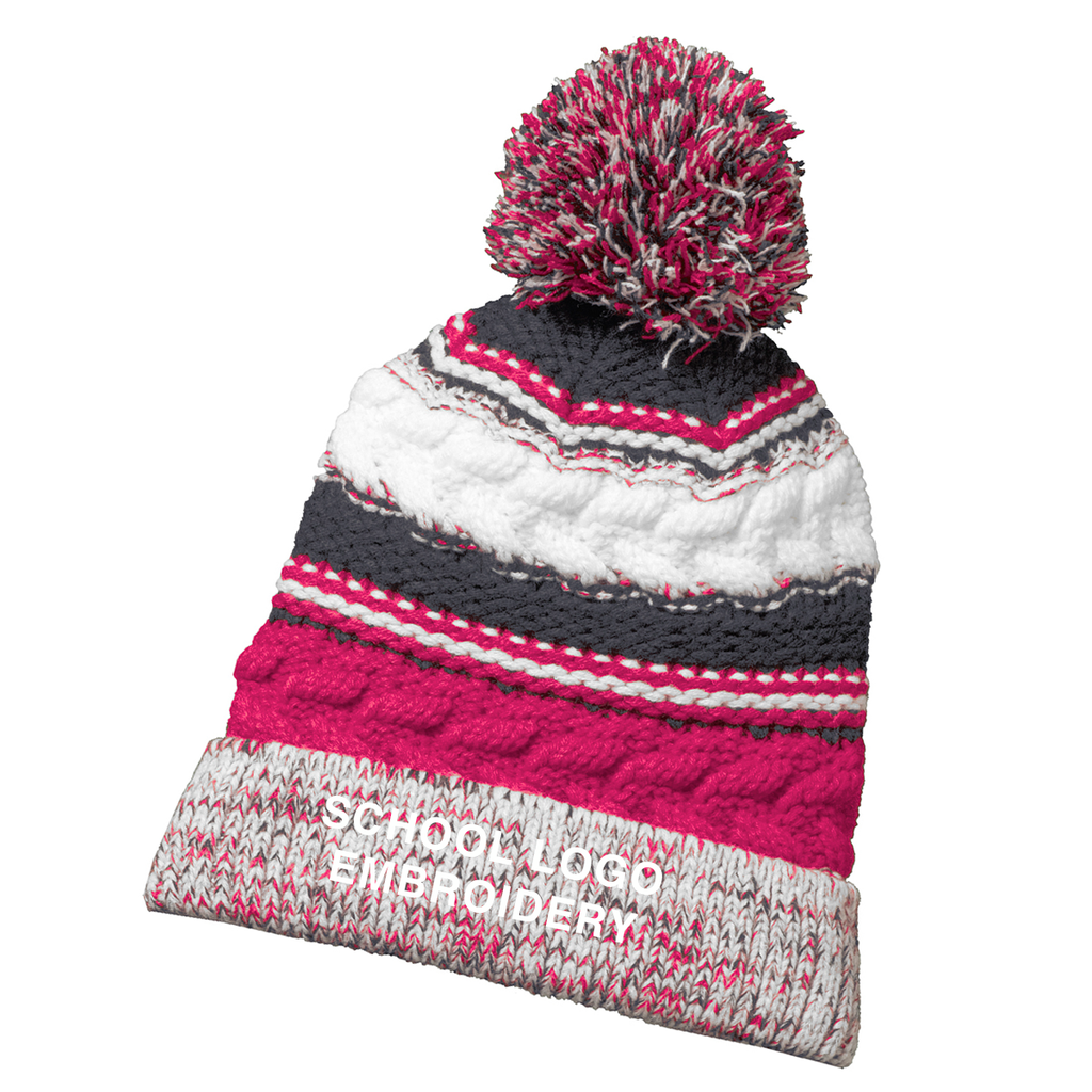 CM - Cancer Awareness Team Pom Beanie