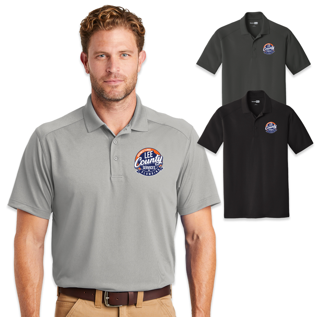 LCS - Lee County Service Corner Stone Lightweight Snag-Proof Polo