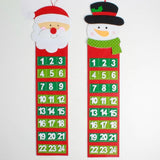 Delicate Lovely Christmas Countdown Calendar  Number Pockets Gift Tag Bag Xmas Decoration