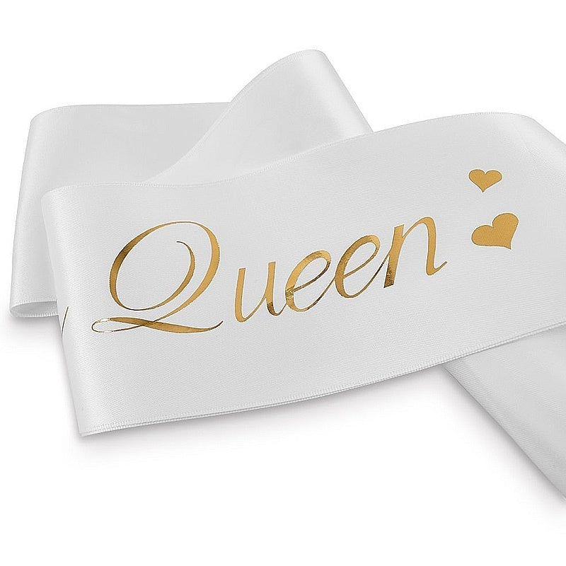 1 PC Trendy Party Favor Decor Cheer Etiquette Band Birthday Queen Sash Beautiful Elegant Glitter