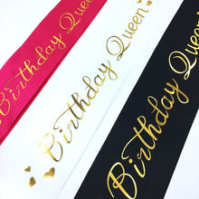 Load image into Gallery viewer, 1 PC Trendy Party Favor Decor Cheer Etiquette Band Birthday Queen Sash Beautiful Elegant Glitter