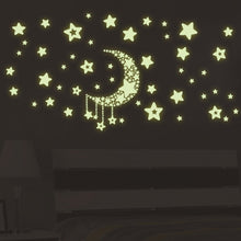Load image into Gallery viewer, DIY Night Light Glow In The Dark Moon Stars Wall Stickers Home Decor Decals