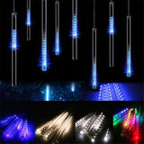 Meteor Falling Star Rain Drop Icicle Snow LED Xmas Tree String Light