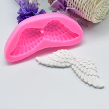 Load image into Gallery viewer, Pendant   Decorating Angel Wings Shape Decoration Chocolate Pastry 3D Mould Cake Molds Silicone Clay Tools
