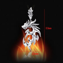 Load image into Gallery viewer, High Quality Men Silver Necklaces Dragon Pendant Necklaces Jewelry