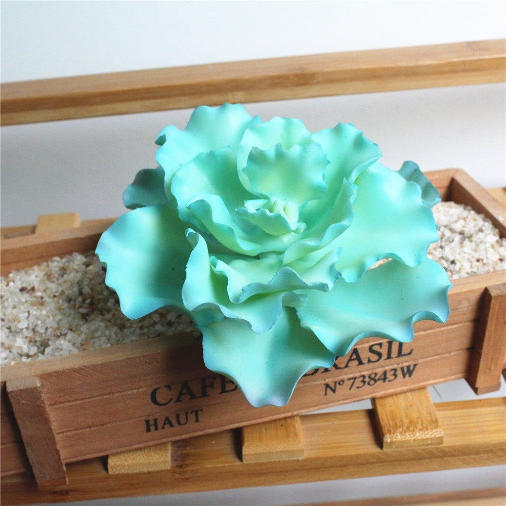 1 Pc Blue Artificial Succulent Plants Grass Desert Artificial Plant Fake Flower for Home Balcony Garden Office Decor Arrangement