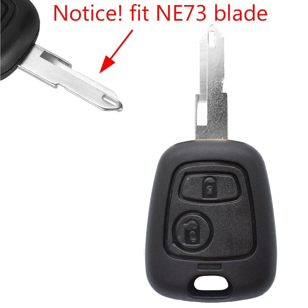 Car Remote Key Shell Case For Peugeot 307 107 207 407 For Citroen C1 C2 C3 C4 C5 Xsara Picasso Fob with Switch NE73 Blade
