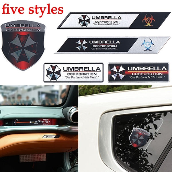 New Fashion aluminum sticker alloy Corporation Resider Evil umbrella stickers decals emblem badges auto accessories