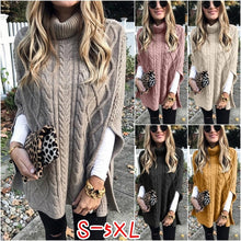 Load image into Gallery viewer, Autumn Winter Women Fashion Long Sleeve High Collar Clothes Casual Solid Color Knitted Pullovers Cute Warm Sweater Plus Size S-5XL
