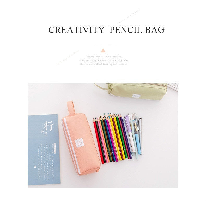 Fashion Student's Pencil Case Portable Storage Pouch Stationary Handbag Cosmetic Bag