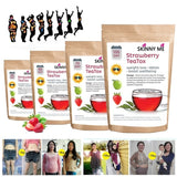 2019 new product 20/40/70/100 days Teatox morning and evening slimming tea weight loss diet fat burning detox tea bag strawberry
