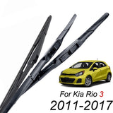 3Pcs/set Front Rear Windshield Wiper Blades Kit For Kia Rio UB Hatchback 2017 2016 2015 2014 2013 2012 2011 26'16'11'