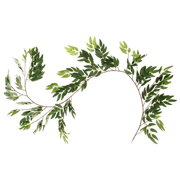 1.7M 1/2PC Artificial Greenery Garland Faux Silk Eucalyptus Vines Wreath Wedding Backdrop Wall Decor Flower Arrangement Willow Leaves Garland