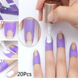 New Upgrade U-shaped Practical Nail Polish Spilling Nails   Nail Protection Sticker(10Pcs/20Pcs)