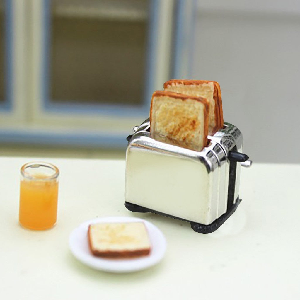 1:12 /1:6 Dollhouse Miniature Scene Model Bread Machine Pretend Play Toy Miniature food play scene model Small cloth doll house accessories Mini bread machine
