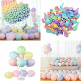 Pack of 100/200pcs Macaron Candy Color Balloons Pastel Latex Balloons 10 Inch for Wedding Birthday Party Decoration