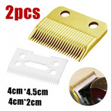 New Hair Beard Ceramic Blade Cutter + Metal Bottom Set For Wahl Shear Clipper
