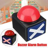 Red Game Answer Alarm Buzzer Button with Sound and Light Relieve Stress Joke Big Prank