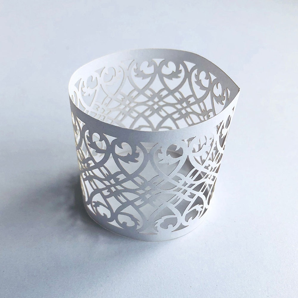 50pcs Napkin Paper Rings Dinner Table Decoration Napkin Buckle