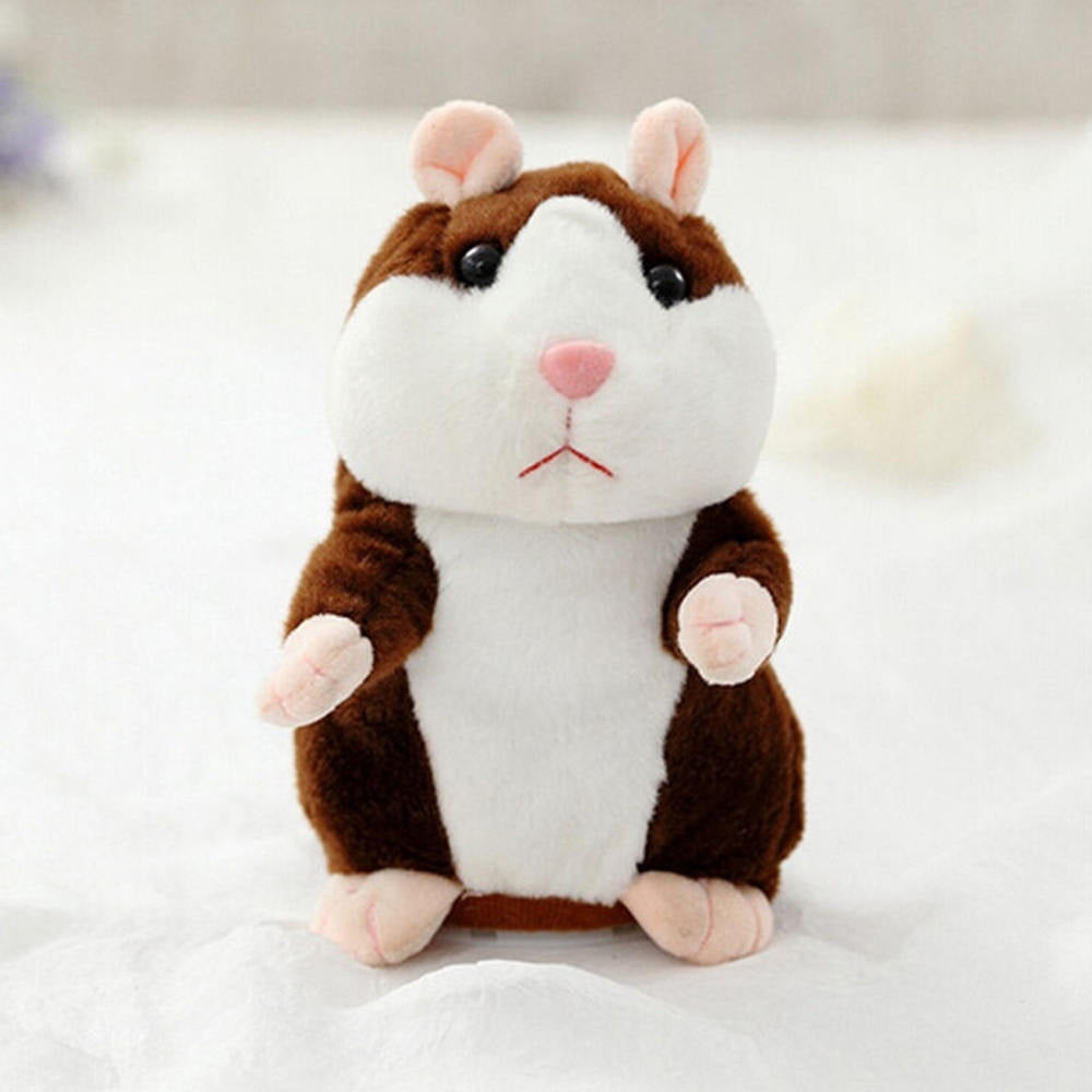 Cute Hamster Plush Toy Kids Educational Funny Gifts (can speak & nodding)