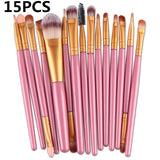 Pro 20Pcs Makeup Brushes Set Eye Shadow Foundation Powder Eyeliner Eyelash Lip Make Up Brush Cosmetic Beauty Tool Kit Hot