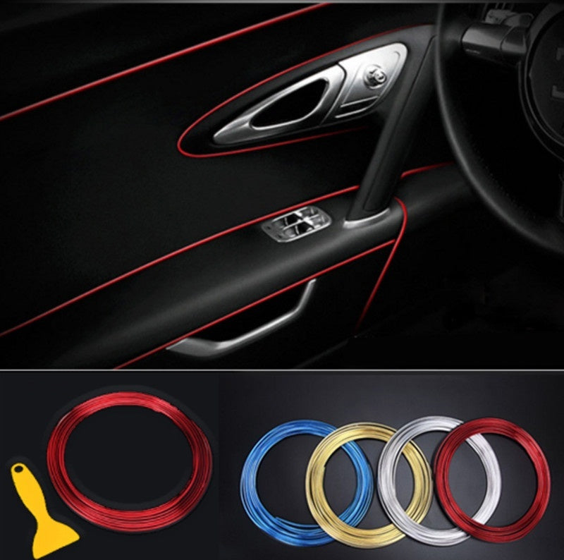 3M/5M Universal Car Decorative Strip DIY Interior Decorative Line for Dodge Charger Ram 1500 Challenger Jeep Car Accessories